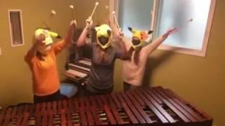Tema de Combate Pokémon tocado en Marimba