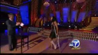Injury sidelines Misty May-Treanor from DWTS (KABC,10/6/08)