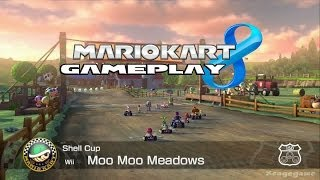 Mario Kart 8 - Moo Moo Meadows  - Shell Cup - Baby Rosalina Gameplay [ HD ]