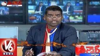 Bithiri Sathi One Side Angry Show   Sathi Imitates Arnab Goswami   Teenmaar News   V6 News width=
