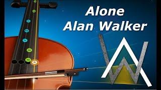 Alone - Violin Tutorial - Alan Walker