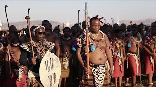 Reed Dance Ceremony in Swaziland width=