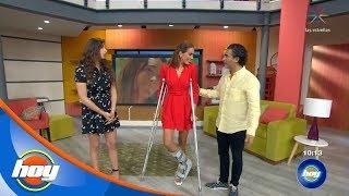 Carolina Morán salió con el pie destrozado de Reto 4 Elementos | Hoy