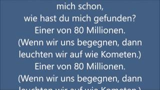 Max Giesinger - 80 Millionen (Lyrics)