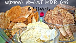 Make Potato Chips in Your Microwave | 3 FLAVORS MICROWAVE POTATO CHIPS