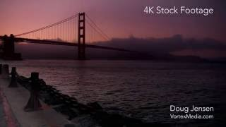 Golden Gate and Cable Car 4K Stock Footage