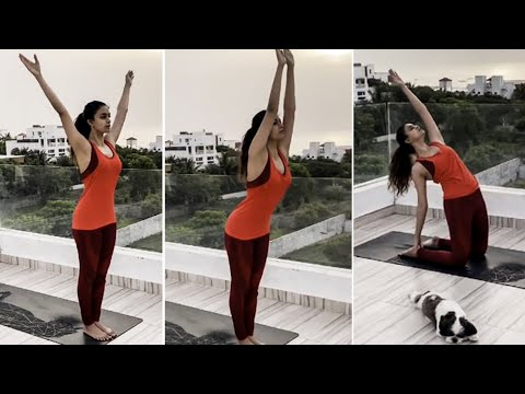 🔴VIDEO: Actress Keerthy Suresh Latest Yoga Video In Terrace   International Yoga Day   Tamil Actress