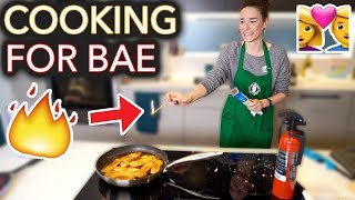 I Tried to Cook My Boyfriend His Fav Meal (I set it on fire)