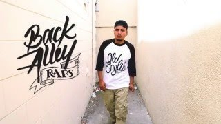 J.Bless -  Back Alley Raps Freestyle hip hop session | Old English Brand Street Wear