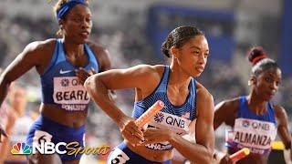 Allyson Felix's sub-50 second leg helps USA advance to 4x400 finals | NBC Sports