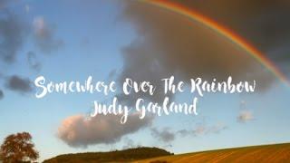 Somewhere Over The Rainbow - Judy Garland (Ukulele cover + Lyric video)