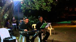 Saxophone keyboard duo musicians for hire manila