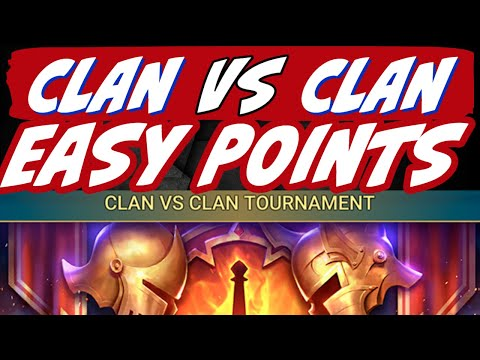 Clan vs CLan getting easy points! CvC Raid Shadow Legends