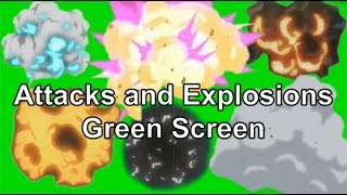 Recopilationn of Attacks and Explosions Green Screen.