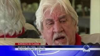 Muerte de Fidel Castro repercusiones en Florida