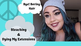 Bleaching My Hair and Dying it Teal Using Argan Oil- Perfect Intensity