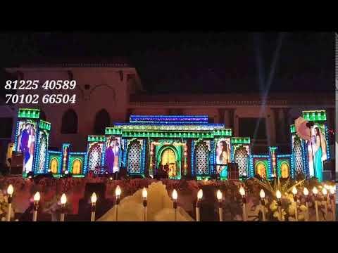 LED Stage Backdrop Design Decoration | Wedding Reception Event Decoration India +91 81225 40589