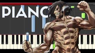Shingeki No Kyojin  opening 1 piano midi sheet partitura Titanes 2016 Guren no Yumiya season 2