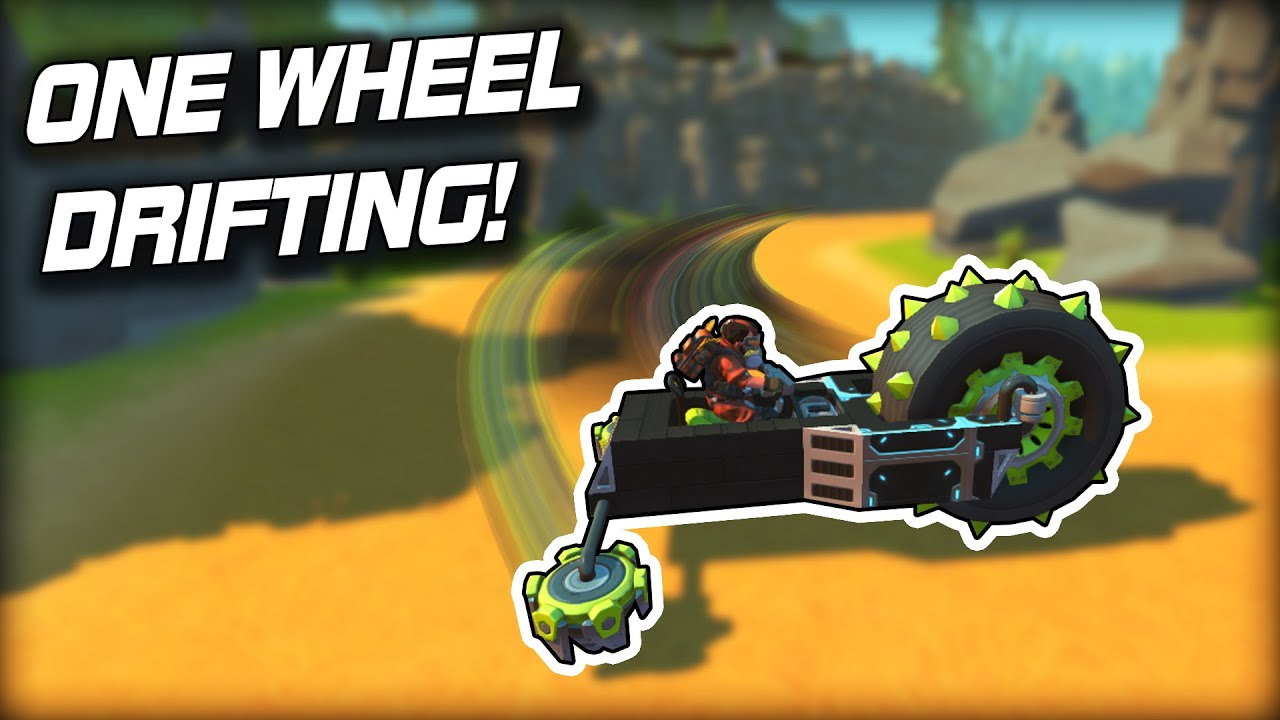 kAN Gaming - Who Can Build the Best One Wheel Drift Racer? (Scrap Mechanic Multiplayer Monday)