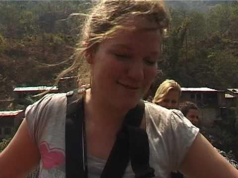 Heleen canyon swing Nepal