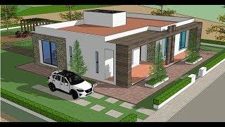 Planos de Casas - Un PISO con 3 RECÁMARAS - Proyecto Arquitectura Moderna