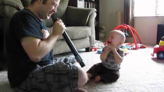 Baby Isaac Laughing at Daddy