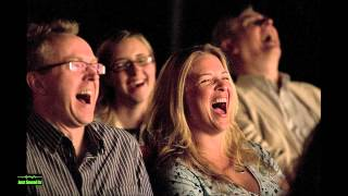 Crowd Laughing Together