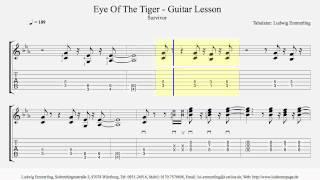 Survivor - Eye Of The Tiger - Guitar Lesson