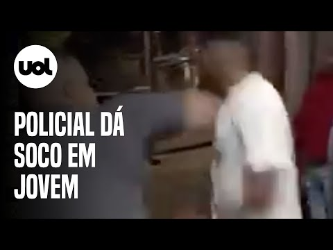 Vídeo flagra policial dando soco no rosto de jovem em Caieiras