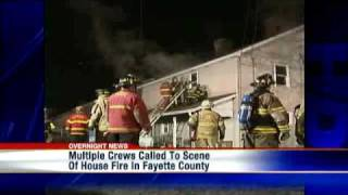 Multiple Crews Battle House Fire In Fayette County