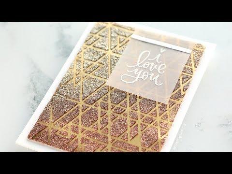 Foil Cardstock & Glitter Paste with Stencil