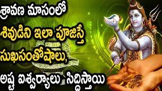 శ్రావణ మాసంలో శివుడిని ఇలా పూజిస్తే అష్ట ఐశ్వర్యాలు సిద్ధిస్తాయి  Lord Shiva Pooja In Sravana Month