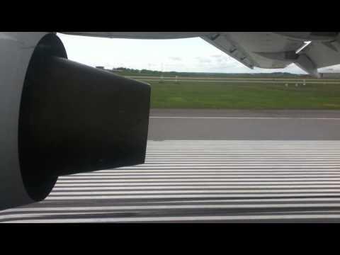 Ukraine International Airlines Antonov 148 landing in Helsinki Vantaa
