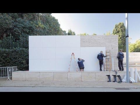 Mies van der Rohe's Barcelona Pavilion transforms into a minimalist's fantasy