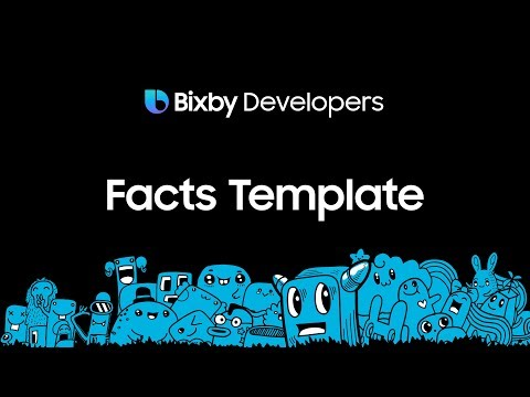 Bixby Studio - Bringing the Facts Template to the Marketplace