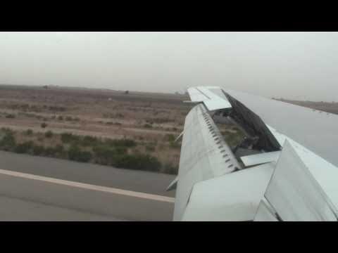 Landing in Morocco Onboard Royal Air Maroc / (Maroc / Morocco)