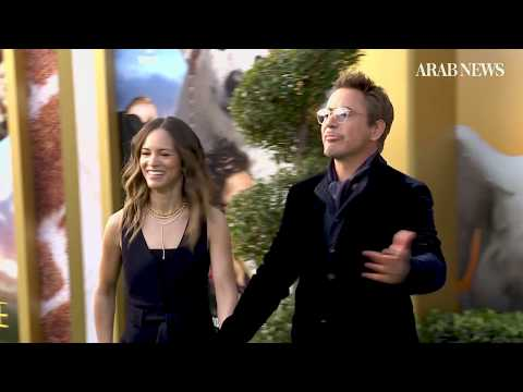 On the red carpet with Robert Downey and stars of 'Dolittle'