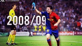 Lionel Messi ● 2008/09 ● Goals, Skills & Assists width=
