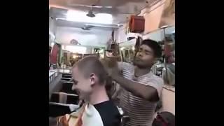印度的头部按摩你敢做吗?