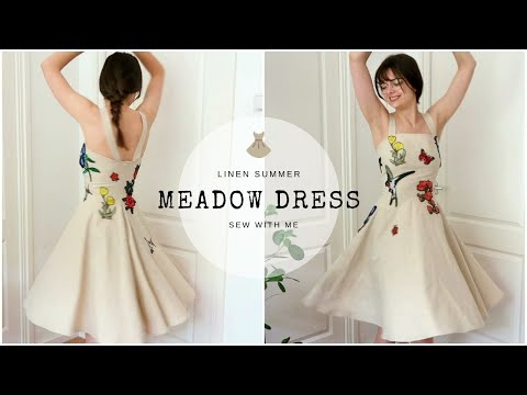 A Linen Summer Meadow Dress   Sew With Me