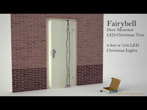 Fairybell Front Door Mounted LED Christmas Tree