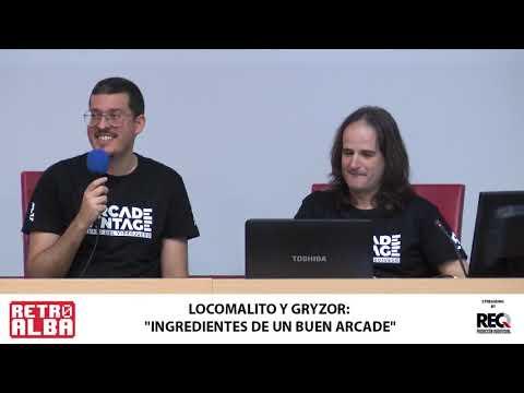 """RETROALBA 2019 :""""Ingredientes de un buen Arcade"""". Locomalito y Gryzor87"""