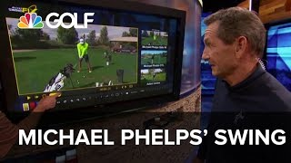 Michael Phelps' Swing - Lesson Tee Live | Golf Channel