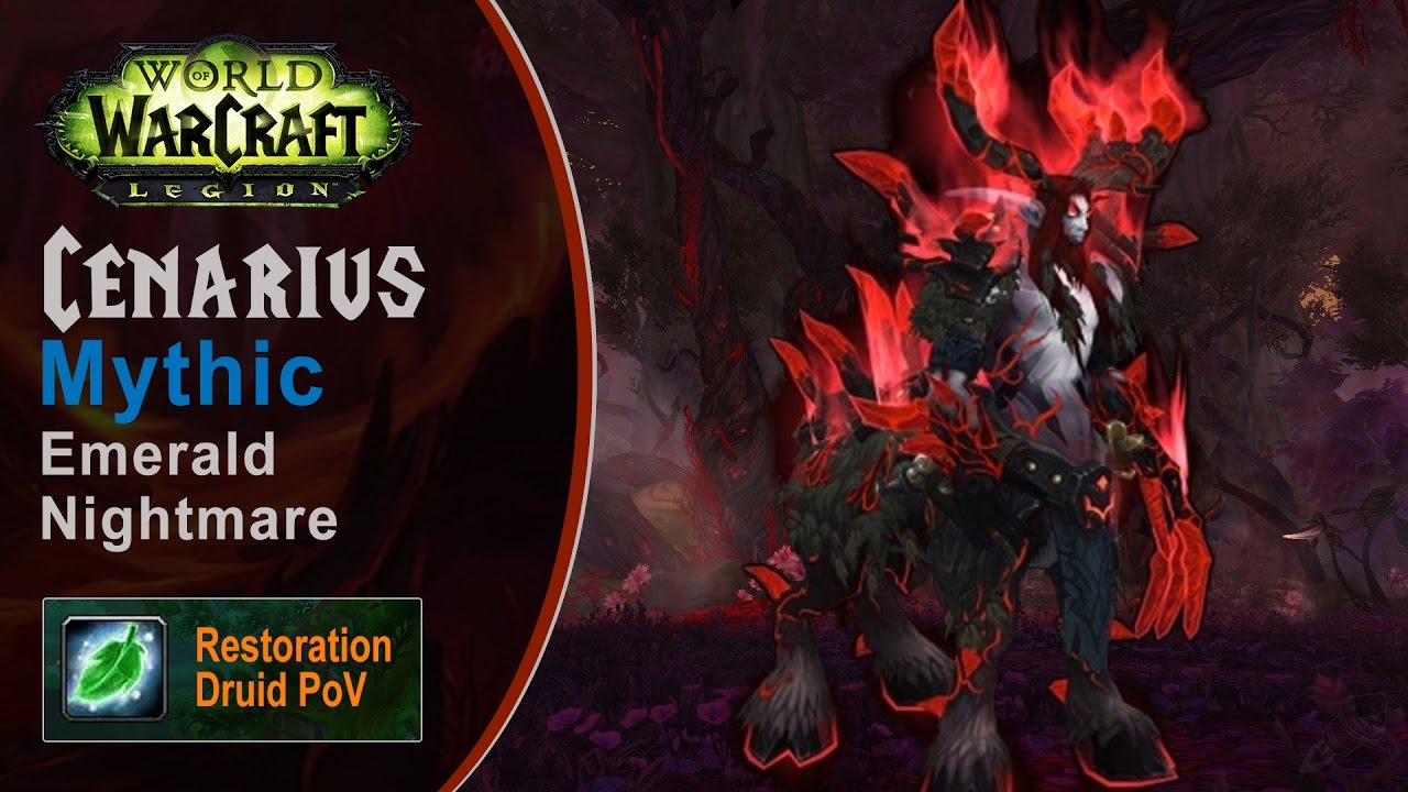 [LGN] Cenarius, Mythic Emerald Nightmare, Restoration Druid PoV (Game Sounds Only)