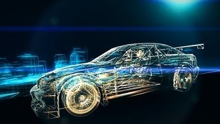 City Space Intro - Animation of Car in After Effects - Element 3D test