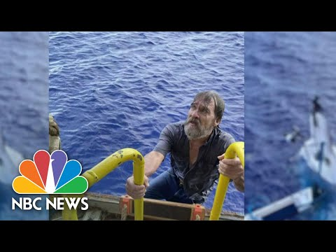 Rescued Boater Found Clinging To Capsized Boat Speaks Out About Experience | NBC Nightly News