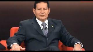 """""""Heróis matam"""", diz Mourão em sabatina da Globo News"""
