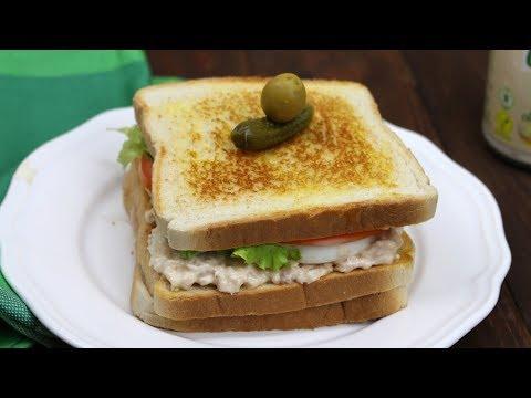 Sandwich vegetal con atún. ¡FÁCIL Y DELICIOSO!