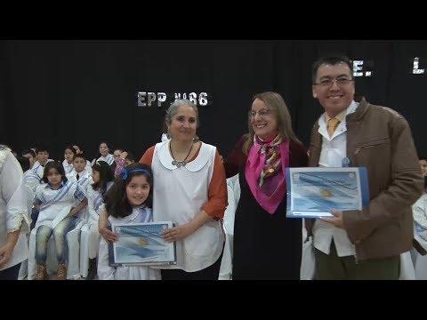 Alicia Kirchner en su visita a la localidad de Comandante Luis Piedra Buena