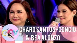 Bea Alonzo in her working relationship with Miss Charo Santos | GGV